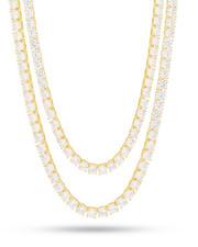 Jewelry & Watches - 5 MM Gold Tennis Choker Set-2595678