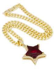 King Ice - Ruby Star Necklace-2595681