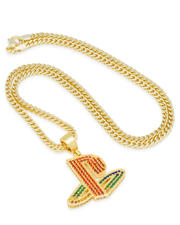 King Ice - Playstation x King Ice - Classic PS Logo Necklace-2595683