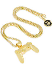 King Ice - PlayStation by King Ice - The Gold Classic Controller Necklace-2595690