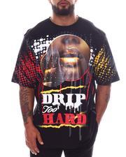 Big & Tall - Drip Too Hard Lips Graphic T-Shirt (B&T)-2598365