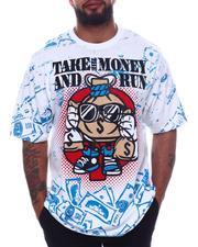 Big & Tall - Take The Money & Run Graphic T-Shirt (B&T)-2598454