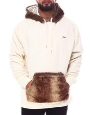 Big & Tall - Jacquard Pullover with Fur Detail Hoodie (B&T)-2599009