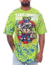 Big & Tall - Take The Money & Run Graphic T-Shirt (B&T)-2598288