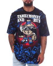 Big & Tall - Take The Money & Run Graphic T-Shirt (B&T)-2598462