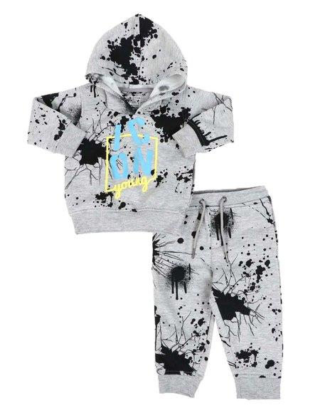Parish - 2 Pc Paint Splatter Icon Hoodie Pull Over & Jogger Pants Set (Infant)
