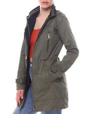 Outerwear - Hooded Cinched Waist Jacket-2594334