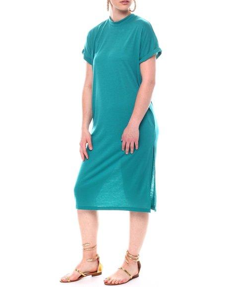 Fashion Lab - Short Sleeve Maxi Shift Dress