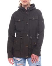 Outerwear - Hooded Military Jacket-2597726
