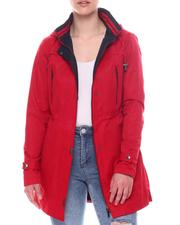 Outerwear - Hooded Cinched Waist Jacket-2597771