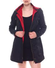 Outerwear - Hooded Cinched Waist Jacket-2593889