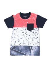 Tops - Paint Splatter Color Block Tee (8-20)-2593090