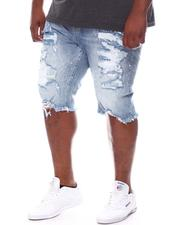Big & Tall - Distressed Denim Shorts (B&T)-2598201