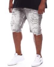 Big & Tall - Distressed Denim Shorts (B&T)-2598222