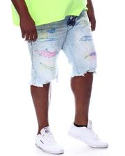 Shorts - Painted & Distressed Denim Shorts (B&T)-2598266