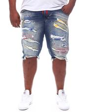 Shorts - Painted & Distressed Denim Shorts (B&T)-2598283