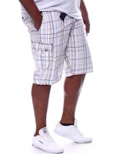 Buyers Picks - Plaid Belted Cargo Shorts (B&T)-2598292
