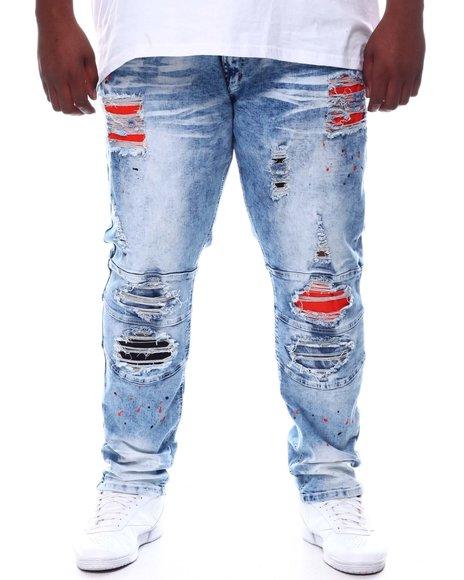 Makobi - Shredded Jeans With Paint Splatter Spots (B&T)