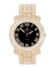 Buyers Picks - Analog Watch With Blinged Out Bracelet Set-2598019