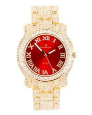 Buyers Picks - Analog Watch With Blinged Out Bracelet Set-2598021