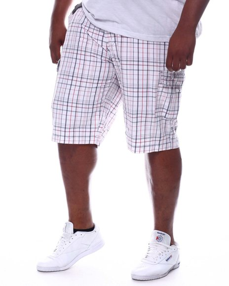 Buyers Picks - Plaid Belted Cargo Shorts (B&T)