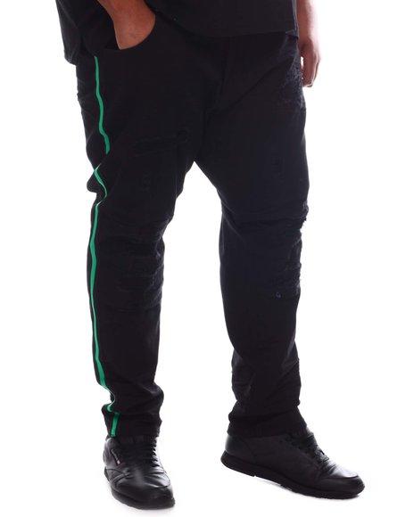 Makobi - Contrast Side Tape Jeans (B&T)