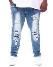Makobi - Shredded Jeans With Bleach Spots (B&T)-2599600