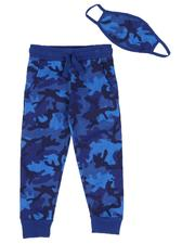Arcade Styles - Camo Print Joggers W/ Matching Mask (8-18)-2589521