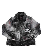 Jordan Craig - Splatter Detail Denim Jacket (2T-7))-2592700