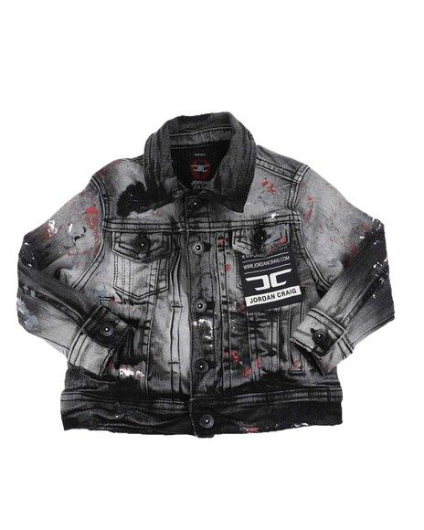 Jordan Craig - Splatter Detail Denim Jacket (2T-7))