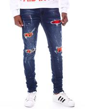 ROYAL 7 - Distressed Patch Jean-2599550