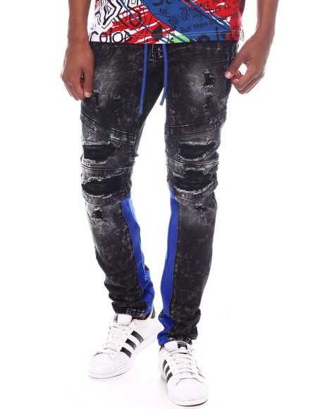 Frost Originals - SHREDDED JEANS W/ SIDE PANEL & CORD