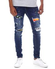 ROYAL 7 - Distressed Patch Jean-2599573