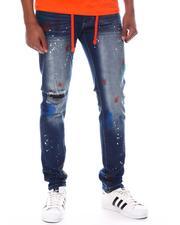 Jeans & Pants - Belted Jean with Paint Splatter-2599611