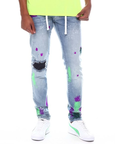 Buyers Picks - Belted Jean with Paint Splatter