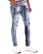 Frost Originals - SHREDDED JEANS W/ SIDE PANEL & CORD-2599750