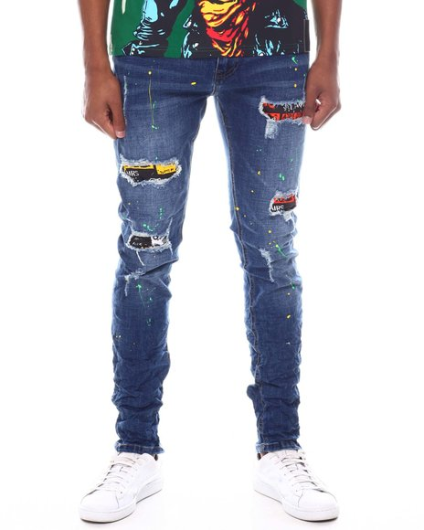 ROYAL 7 - Distressed Patch Jean
