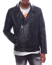 Men - Vegan Leather Motto Jacket-2595684