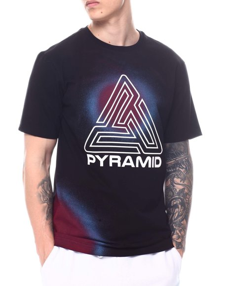 Black Pyramid - Spray Effect Maze Tee