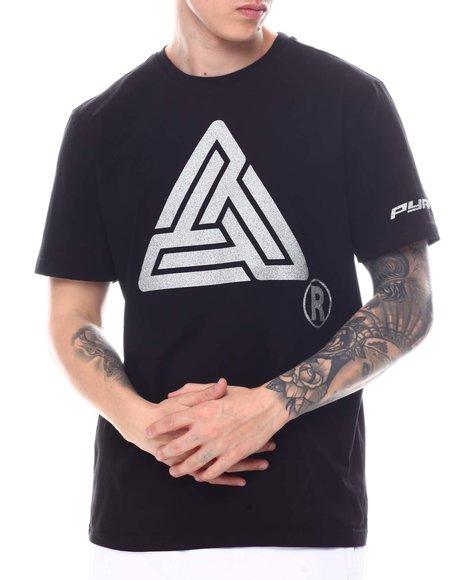 Black Pyramid - Silver Glitter Logo Tee