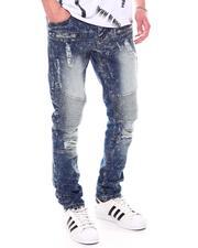 Jeans - Wash Distressed Moto Jean-2601848