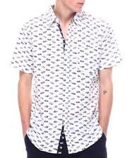 Men - Nostalgic Car Print ss button shirt-2601480