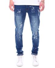 Men - Stretch Ripped Jean w Paint-2601112