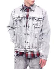 Denim Jackets - Selfmade Newspaper print Denim Jacket-2600632