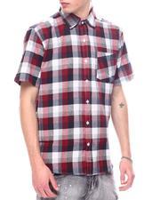 Men - Candy Plaid Short Sleeve Button Down-2601430
