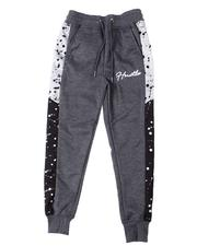 Sizes 8-20 - Big Kids - Hustle Interlock Joggers w/Paint Splatter (8-20)-2596666