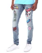 Jeans - No Chill Graphic Jeans Mid Wash-2602231