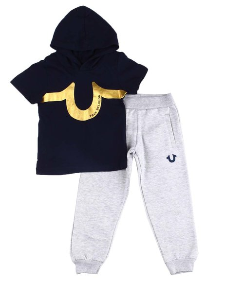 True Religion - 2 Pc Hooded T-Shirt & Jogger Pants Set (4-7)