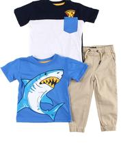 Arcade Styles - 3 Pc Graphic Tee, 1 Pocket Tee & Jogger Pants Set (2T-4T)-2598955