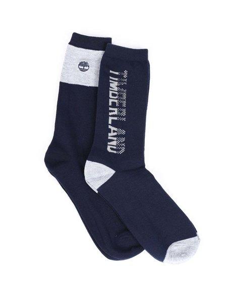 Timberland - 2PK Fashion Marled Crew Socks